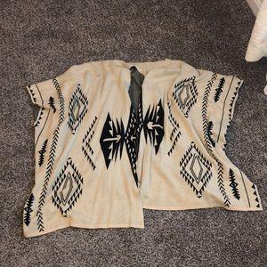 Aztec/Tribal Printed Poncho Wrap! One Size! NEW!